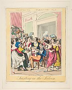 Theatrical Pleasures, Plate 5: Feasting in the Saloon
