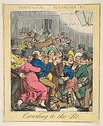 Theatrical Pleasures, Plate 1: Crowding to the Pit