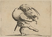 L'Homme Raclant un Gril en Guise de Violon (Man Scraping a Grill in the Guise of a Violin), from Varie Figure Gobbi, suite appelée aussi Les Bossus, Les Pygmées, Les Nains Grotesques (Various Hunchbacked Figures, The Hunchbacks, The Pygmes, The Grotesque Dwarfs)