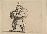La Jouer de Cornemuse (The Bagpipe Player),  from Varie Figure Gobbi, suite appele aussi Les Bossus, Les Pygmes, Les Nains Grotesques (Various Hunchbacked Figures, The Hunchbacks, The Pygmes, The Grotesque Dwarfs)
