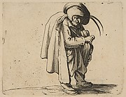 Le Jouer de Vielle (The Hurdy-Gurdy Player),  from Varie Figure Gobbi, suite appelée aussi Les Bossus, Les Pygmées, Les Nains Grotesques (Various Hunchbacked Figures, The Hunchbacks, The Pygmes, The Grotesque Dwarfs)