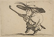 Le Joeuer de Luth (The Lute Player),  from Varie Figure Gobbi, suite appelée aussi Les Bossus, Les Pygmées, Les Nains Grotesques (Various Hunchbacked Figures, The Hunchbacks, The Pygmes, The Grotesque Dwarfs)
