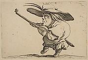 Le Joeuer de Luth (The Lute Player),  from Varie Figure Gobbi, suite appelée aussi Les Bossus, Les Pygmées, Les Nains Grotesques (Various Hunchbacked Figures, The Hunchbacks, The Pygmes, The Grotesque Dwarfs)