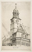 The Post Office, Middle Dutch Church (from Scenes of Old New York)
