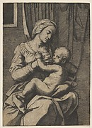 Virgin nursing the infant Christ on her lap