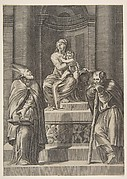 Saint Joseph and a Bishop at the Altar of the Virgin