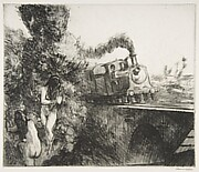 Train and Bathers