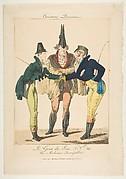 Le Goût du Jour, No. 21: Les Modernes Incroyables, from Caricatures Parisiennes