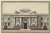 Elevation of the Entrance to an Arsenal