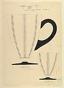 Design for Glass Pitcher and Tumbler (recto); and Tumbler (verso)