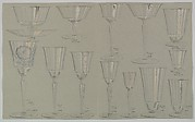Designs for a Set of Glassware (14 pieces)