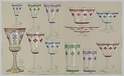 Designs for Glass Drinking Glasses and Tableware