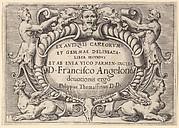 Ex Antiquis Cameorum et Gemmae Delineata/ Liber Secundus/et ab Enea Vico Parmen Incis.