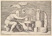 A Faun or Satyr Preparing a Pig for Sacrifice
