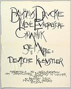 Bauhaus Portfolio V: Title Page