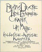 Bauhaus Portfolio IV: Title Page
