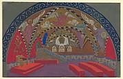 Stage Design for Boris Godounov for the Opera Russe de Paris on its South American Tour, 1929-30