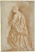Study of a Standing Female Saint