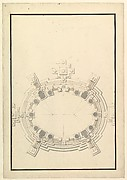 Ground Plan for a Catafalque for a Prince of Lorraine