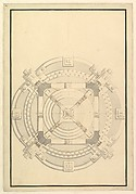 Ground Plan for a Catafalque for an electress of Bavaria