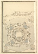 Ground Plan of the Catafalque for Anna Cristina, Wife of Carlo Emanuele II of Savoy