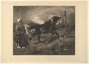Cheval Arabe au Piquet, after Delacroix