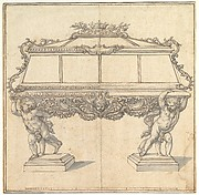 Design for a Sarcophagus Supported by Putti for the Church of S. Maria Maddalena de&#39; Pazzi, Florence.