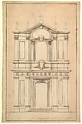 Design for the Façade of Santi Faustino e Giovita, Rome