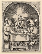 Christ at Emmaus, after Dürer