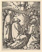 The Ascension of Christ into heaven, after Dürer