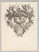 Vignette with Sphinxes and Putti