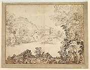 Landscape with a Bridge and Two Figures