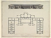 North Elevation and Ground Plan of the Alexander Palace at Tsarskoe Selo
