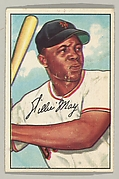 Willie Mays, Center Field, New York Giants, from the series Picture Cards (no. 218)