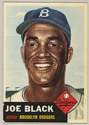 Card Number 81, Joe Black, Pitcher, Brooklyn Dodgers, from the series Topps Dugout Quiz (414-7), issued by Topps Chewing Gum Company
