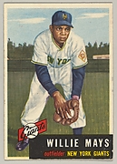 Willie Mays, Outfielder, New York Giants, from the series Dugout Quiz (no. 244)