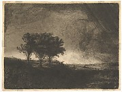 The Three Trees, after Rembrandt
