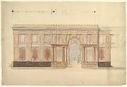 Elevation and Cross-Section of of Gallery Wall