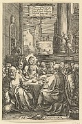 The Last Supper, from The Passion of Christ (after H. Goltzius)