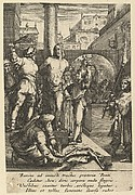 The Flagellation of Christ, from The Passion of Christ (after H. Goltzius)
