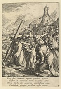 Christ Carrying the Cross, from The Passion of Christ (after H. Goltzius)