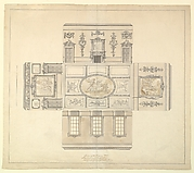 Design for the Dining Room at Kirtlington Park, Oxfordshire