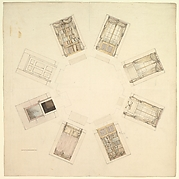 Octagonal Room with Sectional Views