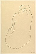 Seated Nude, viewed from the back