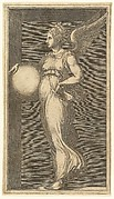 Female Winged Allegorical Figure Holding a Sphere