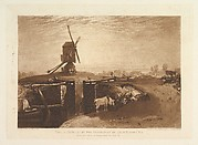 Windmill and  Lock (Liber Studiorum, part VI, plate 27)