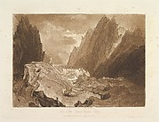 Mêr de Glace, Valley of Chamouni-Savoy (Liber Studiorum, part X, plate 50)