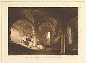 Crypt of Kirkstall Abbey (Liber Studiorum, part VIII, plate 39)