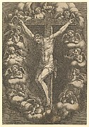 The Crucifixion with Mourning Angels