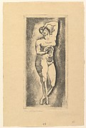 Female nude, standing